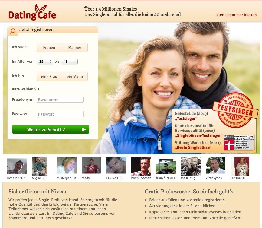 Dating Cafe Screenshot