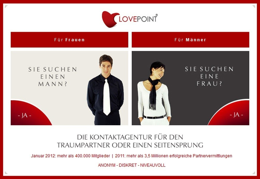 Screenshot von Lovepoint