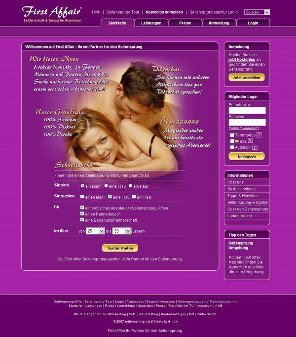 Screenshot First Affair